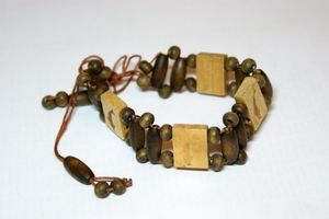 Dark Brown Dolphin Adjustable Wooden Bracelet