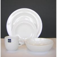 Denby White Trace 16 Piece Dinner Set
