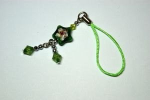 Green Star Mobile Phone Charm