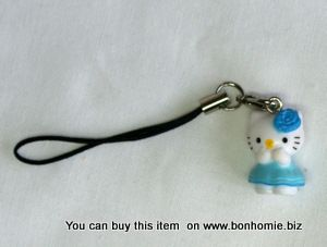 Hello Kitty Charm Flower Blue