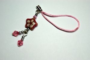 Pink Star Mobile Phone Charm
