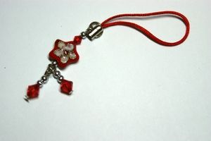 Red Star Mobile Phone Charm