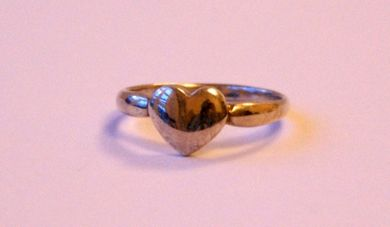 Sterling Silver Ring In A Heart Design
