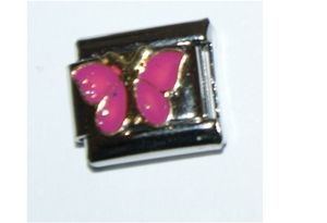 Italian Charm Butterfly Pink