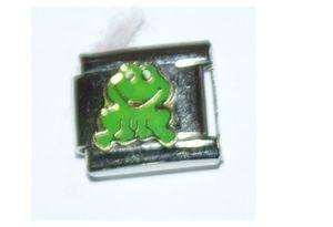 Italian Charm Enamel Frog