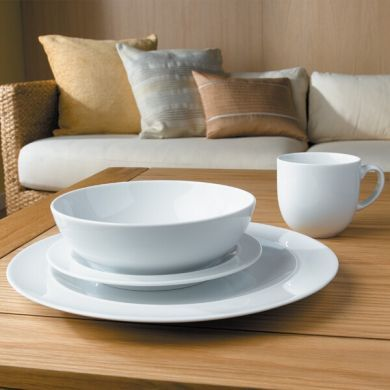 Denby White 16 Piece Dinner Set