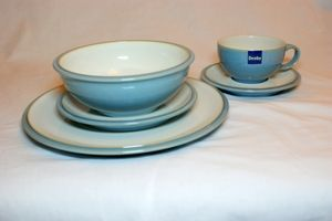 Denby Blue Jetty White 20 Piece Dinner Set