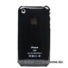iPhone 3GS Plain Back Cover Black