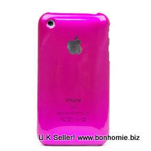 iPhone 3GS Plain Back Cover Hot Pink