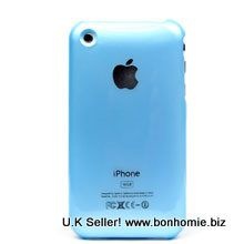 iPhone 3GS Plain Back Cover Light Blue
