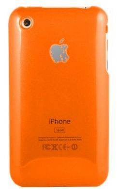 iPhone 3GS Plain Back Cover Orange