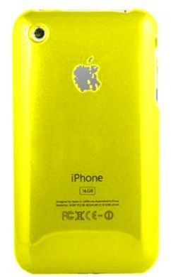 iPhone 3GS Plain Back Cover Yellow