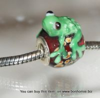 Glass Bead Green Frog 100