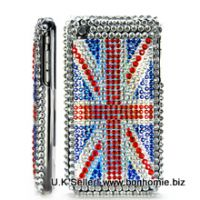 iPhone Diamante Gem United Kingdom Back Cover