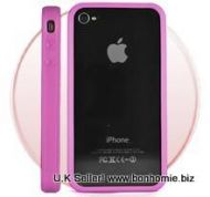 iPhone 4G Bumper Rubber and Molded Plastic Case (Pink)