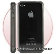 iPhone 4G Bumper Rubber and Molded Plastic Case (Clear)